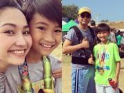 Làng sao - Vợ chồng Kim Hiền cùng con gái đến cổ vũ Sonic thi chạy
