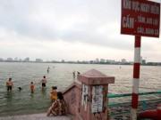 Tin tức - Bất chấp nguy cơ đuối nước, trẻ Thủ đô 'liều mình' ra hồ tắm