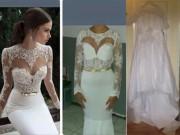 Thời trang - Cô dâu khóc tức tưởi vì thảm hoạ váy cưới mua qua mạng