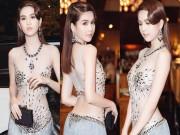 Làng sao - Ngọc Trinh khoe eo thon với váy xuyên thấu tại sự kiện