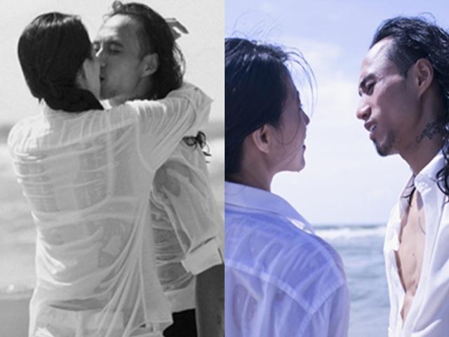 Phạm Anh Khoa lãng mạn hôn vợ hơn tuổi giữa biển