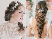 Các mẫu tóc cưới ngắm là yêu cho cô dâu mùa hè
