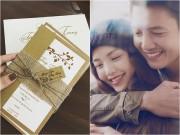 Làng sao - Lộ thiệp cưới lãng mạn của Quang Tuấn - Linh Phi