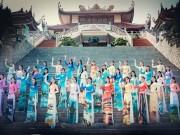 Top 36 Hoa hậu Biển khoe sắc với áo dài ngập tràn sắc biển