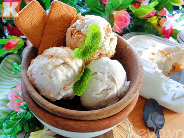 Kem xôi dừa thơm ngon, lạnh tê lưỡi