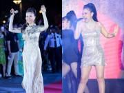 Làng sao - Thu Minh biến hóa liên tục khi hát ở phố đi bộ Nguyễn Huệ