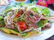 Salad thịt bò ngon mát ngày hè