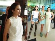 Làng sao - Kỳ Duyên, Hoàng Thùy ra sân bay đón Hoa hậu Pháp