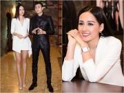 Hoa hậu Mai Phương Thúy khoe chân dài miên man bên Vĩnh Thụy