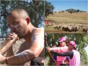 Tiến Đạt, Hương Giang làm thổ dân, lùa cừu ở Australia