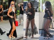 Cách mặc váy maxi chẳng giống ai của Rihanna