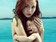 Làng sao - HH Diễm Hương bán nude chụp ảnh cùng con trai