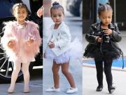 Thời trang - Thời trang sành điệu của con gái Kim Kardashian