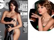 Kim nude táo bạo, tố Taylor Swift giả dối trên tạp chí thời trang