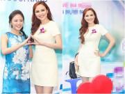 Làng sao - Hoa hậu Diễm Hương kết tay hình trái tim với Văn Mai Hương