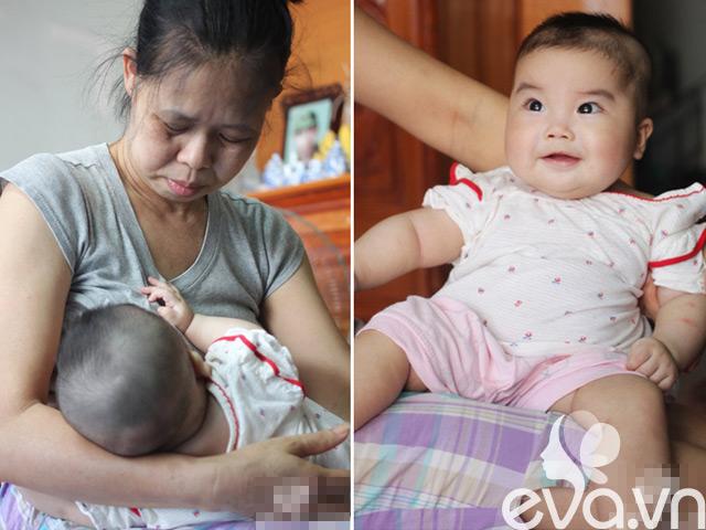 """Gặp bé 5 tháng tuổi cực yêu của cặp đôi """"tóc bạc mới có con"""""""