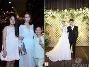 Làng sao - Mai Thu Huyền đưa hai con đến dự đám cưới Mạc Hồng Quân