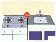 Hóa giải cấm kị phong thủy cho nhà đặt bồn rửa cạnh bếp
