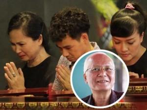 Vợ chồng NSND Lan Hương - Đỗ Kỷ, Xuân Bắc, Vân Dung tới viếng NSƯT Duy Thanh