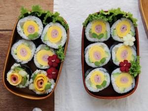 Cách làm kimbap hoa vừa ngon vừa đẹp