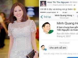 Hoa hậu Thu Hoài đăng tin nhắn bị cho là của Minh Béo với trai trẻ?