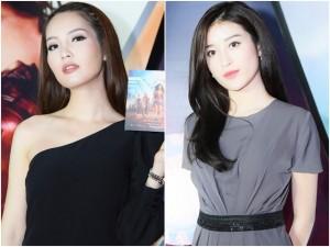Á hậu Thụy Vân gợi cảm khác lạ, đọ sắc với Huyền My tại họp báo phim