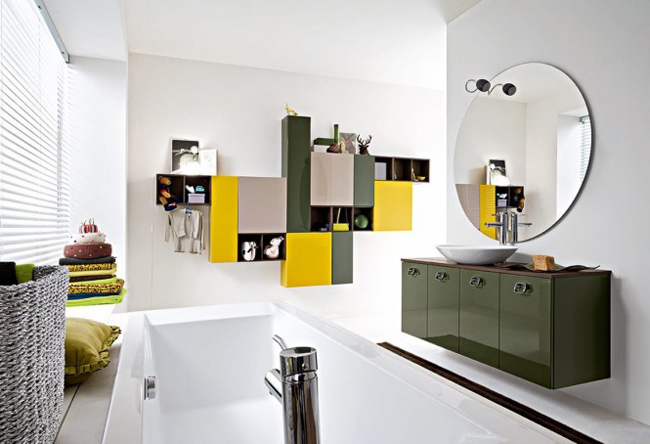 Chúng ta có gì nào? Một căn phòng quyếnrũ với sựkết hợp nội thất xanh rau muống và vàng.