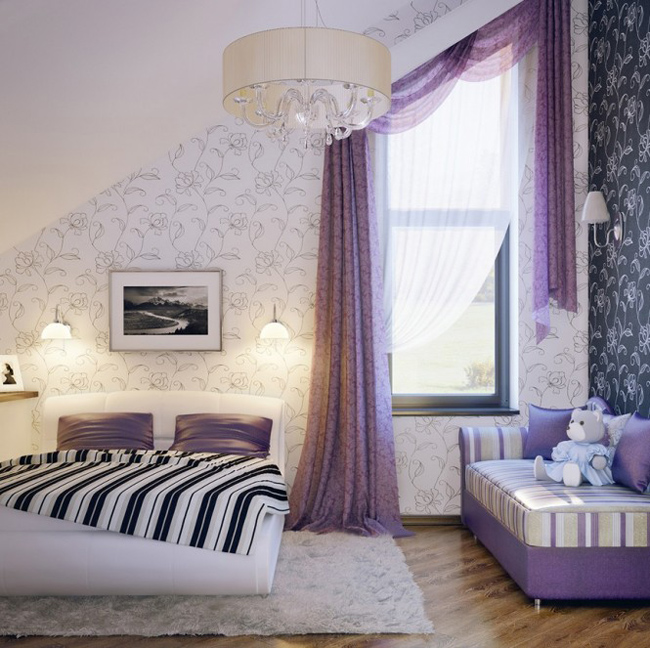 Phòng ngủ cho nhà có 2 thiên thần nhí.