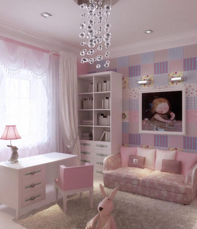 Màu hồng nhạt luôn là một trong những màu yêu thích của các bé gái yêu thích sự dịu dàng, đáng yêu.