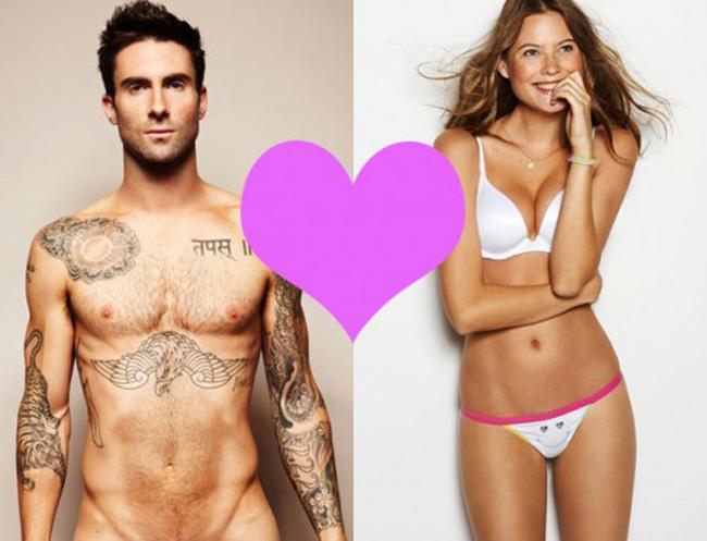 Trong khi chàng là nam ca sĩ nổi tiếng trong vai trò thủ lĩnh nhón nhạc Maroon 5 và là giám khảo của chương trình The Voice Mỹ thì nàng là thiên thần nội y rất nóng bỏng của hãng nội y Victoria's Secret.