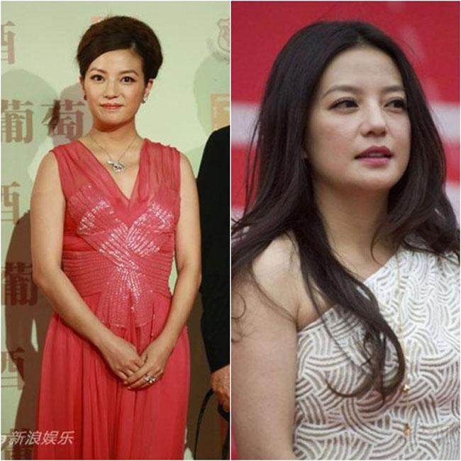Triệu Vy là sao nữ có 'lịch sử' lên cân - xuống cân dày dặn nhất. Sau khi sinh con, cô thường xuyên xuất hiện trong tình trạng 'tròn xoe'.