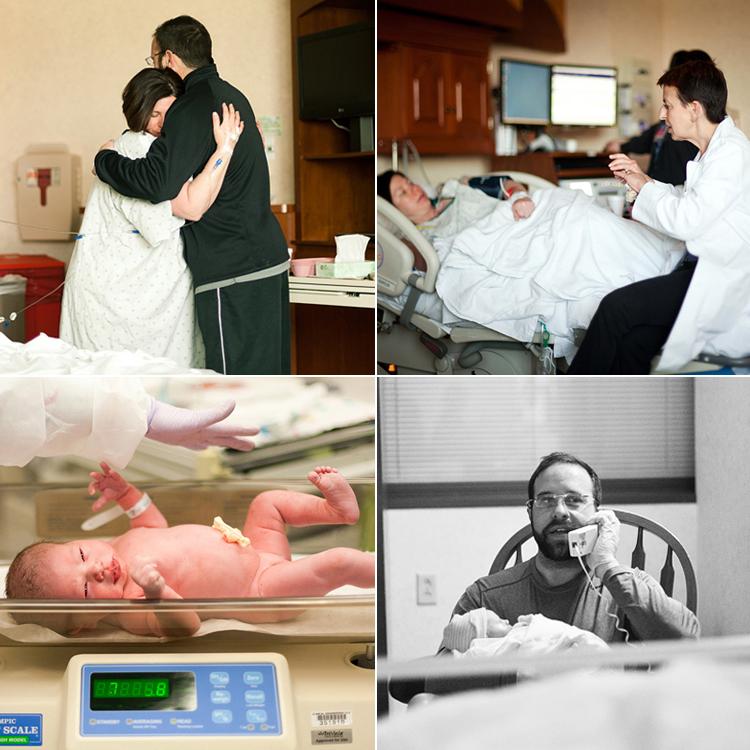 Trong suốt thời gian đau đẻ cho đến khi bé chào đời, chồng của Ryann luôn ở bên cạnh chị để động viên và tiếp thêm sức mạnh. Dường như có sự giúp sức của chồng nên Ryann đã vượt qua ca sinh nở rất nhẹ nhàng.
