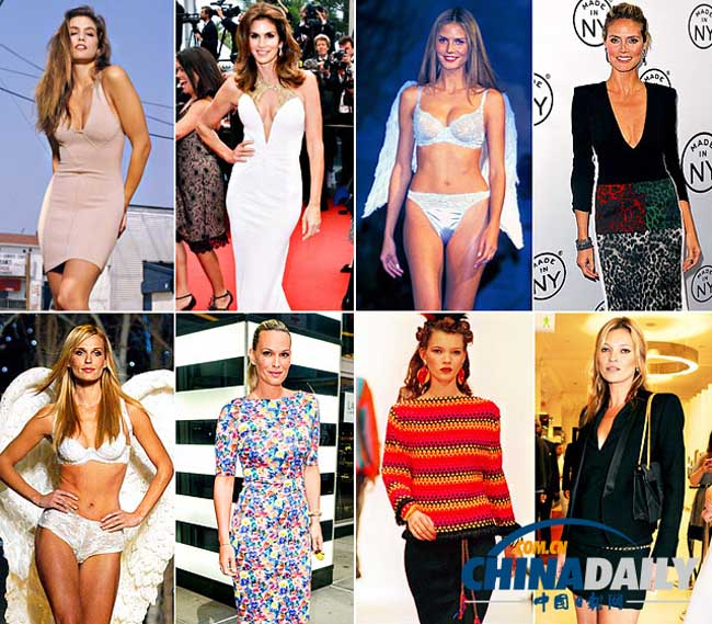 Các chân dài đình đám thế giới thập niên 90: Kate Moss, Claudia Schiffer, Naomi Campbell có còn giữ được sức quyến rũ và sắc vóc như ngày mới ngoài đôi mươi. Hãy cùng ngắm và đưa ra nhận định của bạn.