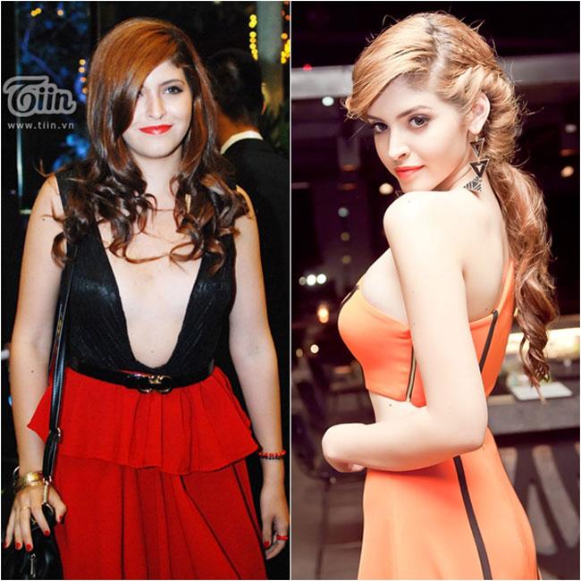 Cô người mẫu lắm scandal, Andrea Aybar cũng sở hữu một vòng 1 đầy 'biến cố'.