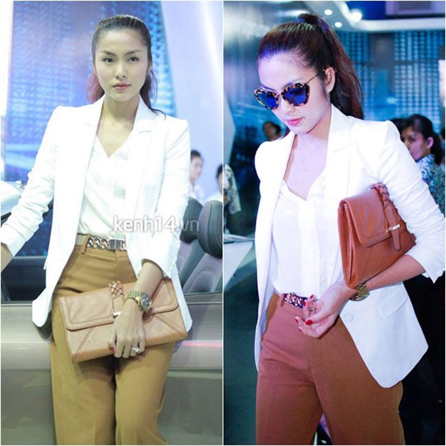 Những bộ trang phục công sở mà Hà Tăng lựa chọn mang hơi thở xu hướng rất trẻ trung và hiện đại.