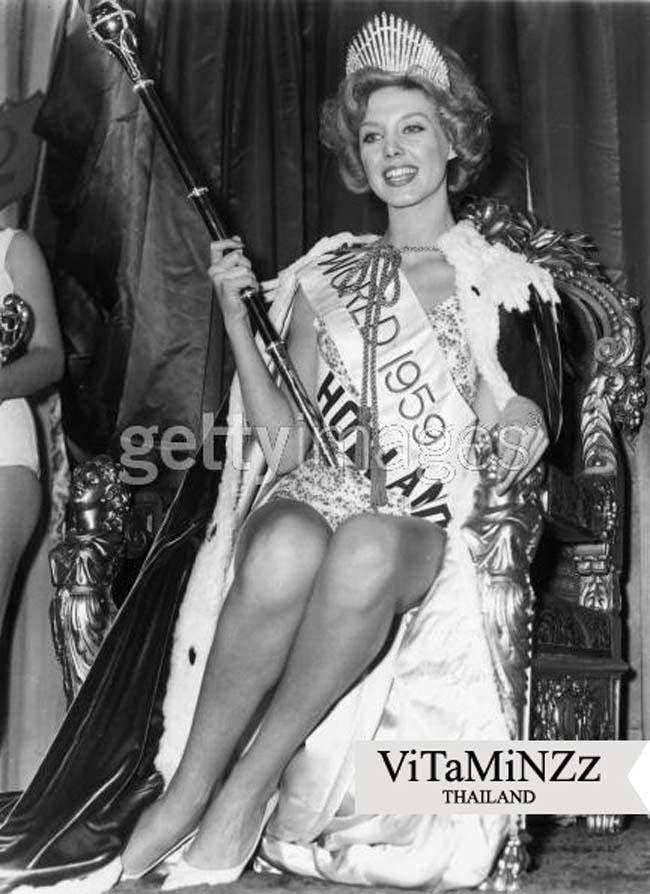 Hoa hậu thế giới năm 1959 Corine Rottschäfer, người Hà Lan. Cô sở hữu vẻ đẹp quyến rũ, hợp với xu hướng thời bấy giờ.