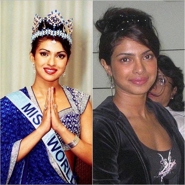 Hoa hậu thế giới năm 2000 là người đẹp Ấn Độ Priyanka Chopra. Cô sở hữu vẻ đẹp quyến rũ nhưng bờ môi hơi dầy và không có nét mảnh mai trong đường nét như đàn chị đăng quang năm 1994 Aishwarya Rai.