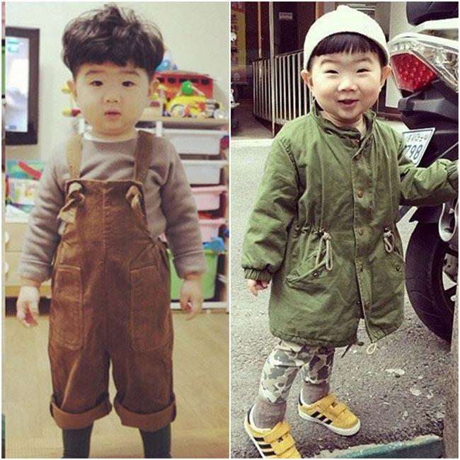 Cậu bé có nickname Kka Moong đang 'gây sốt' trên cộng đồng mạng xã hội Trung Quốc, Hàn Quốc và cả Việt Nam thời gian gần đây nhờ khuôn mặt với đôi mắt híp vô cùng dễ thương với phong cách thời trang cực chất.
