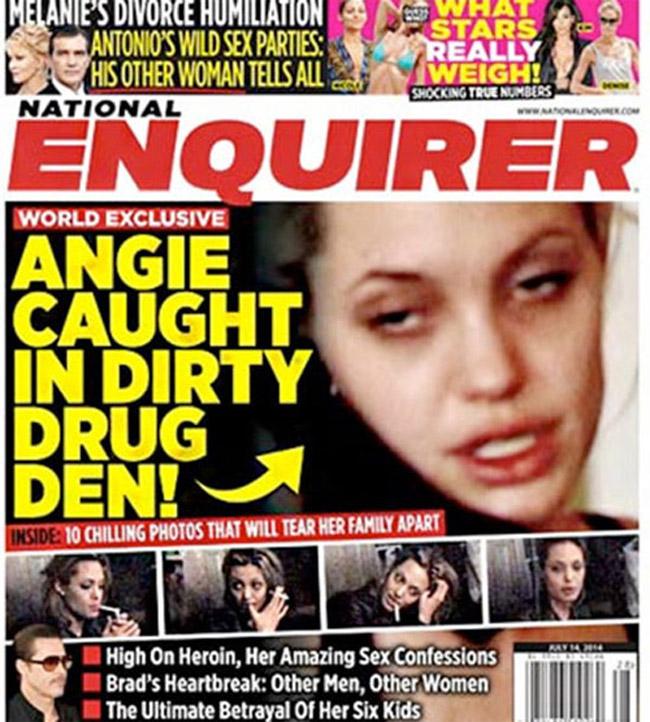 """Angelina Jolie đã có thời gian lầm lỗi khi vướng vào ma túy. Sau khi cai nghiện, côtừng chia sẻ: """"Tôi ghét ma túy, vì tôi dễ siêu lòng với nó. Nhiều khi tôi không thể cưỡng lại được sức hút của nó. Mọi thứ còn tồi hơn khi chúng ta rất dễ mua ma túy, chỉ cần có nhu cầu là chúng ta sẽ mua được. Tôi không phủ nhận tôi từng lạm dụng nó, nhưng bây giờ tôi không còn dùng nữa. Tôi muốn làm gương cho các con."""""""