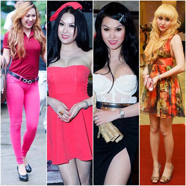 Phi Thanh Vân luôn nằm trong top những người đẹp ăn mặc thiếu tinh tế và sến sẩm nhất trong giới showbiz Việt, mặc dù thời gian gần đây cô đã cố gắng tút tát lại nhan sắc.