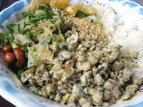 Image result for cơm hến