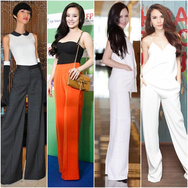 Những chiếc quần dài, che cả bàn chân sẽ giúp các người đẹp ăn gian được chiều cao rất đáng kể.