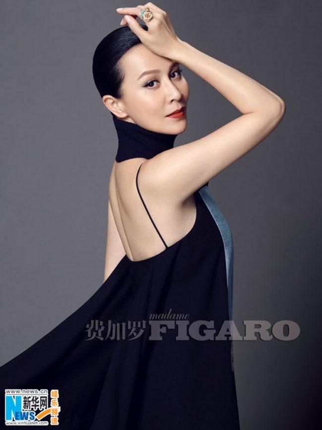 Lưu Gia Linh xuất hiện sang trọng và quyến rũ trên tạo chí Madame Figaro, số tháng 8/2014