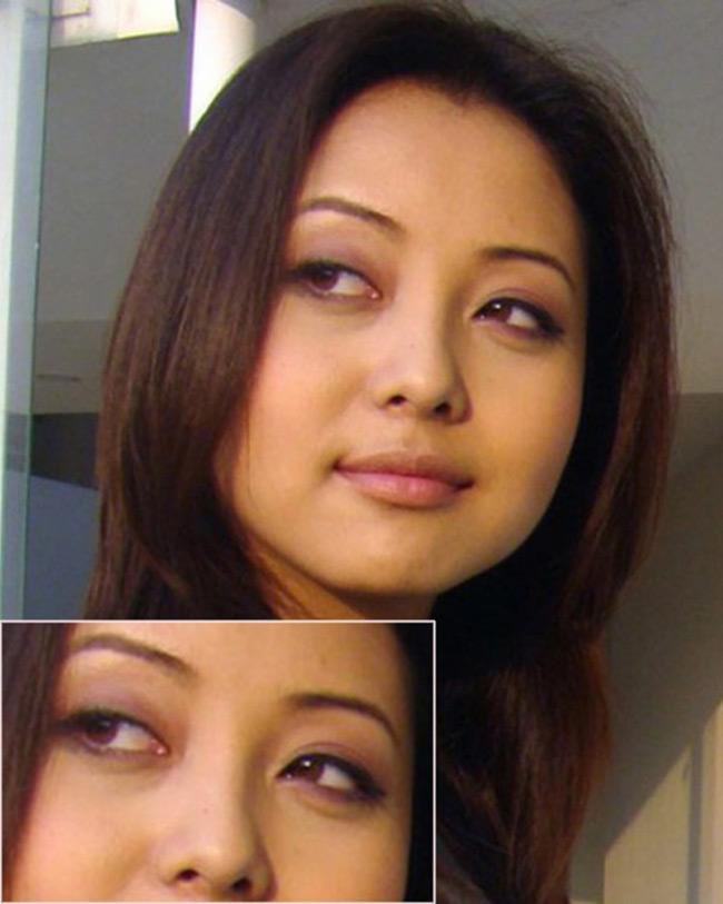 Jennifer Phạm từng bị chê bai khá nhiều bởi hình ảnh này, cũng chỉ tại cô chọn sai tone màu cho mắt.