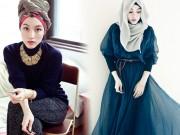 """Cô gái Hồi giáo  """" nổi như cồn """"  vì mặc đẹp"""