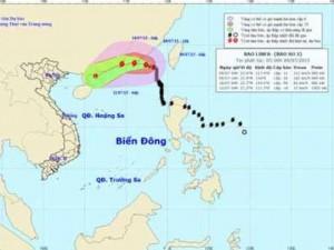 Bão số 2 ảnh hưởng đến vùng biển phía Bắc Biển Đông