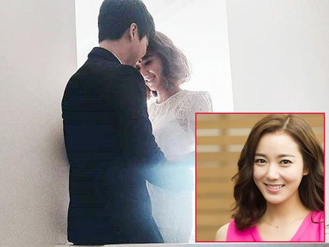 Lộ ảnh cưới đầu tiên của người đẹp Dong Yi