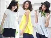 """Thời trang - Thiếu nữ Việt ngày càng chuộng mặc áo """"bà bầu"""""""
