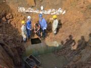 Tin tức - Đường ống nước sông Đà lại vỡ, 70.000 hộ dân mất nước sạch
