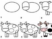 Tranh dạy bé vẽ theo từng bước siêu dễ